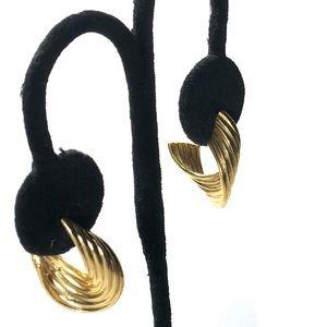 """Jewelry - Earrings Hoop Wide Gold Tone 1"""""""